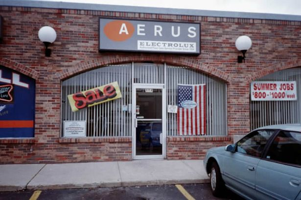 Aerus.  Light box with new face and new logo.