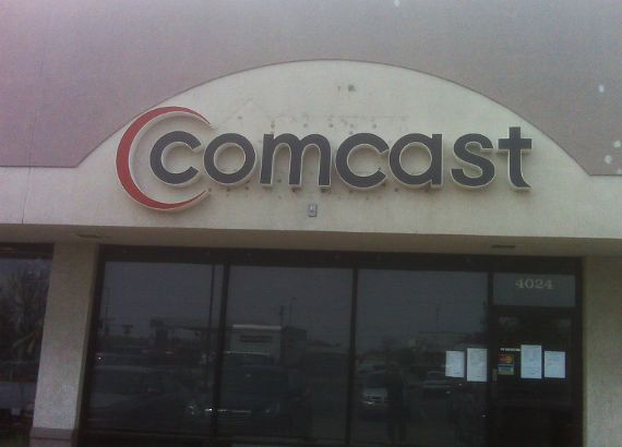Comcast.  LED lighted channel letters.