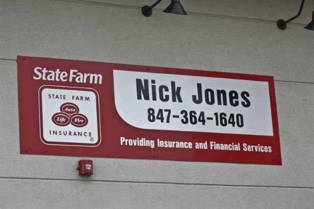 State Farm Arlington Heights. Vinyl Graphics on an aluminum sign.