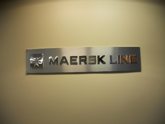 Maersk.  Dimensional office sign.