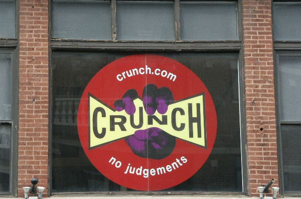 Crunch Gym Chicago.  A 5ft by 5ft graphic on glass.