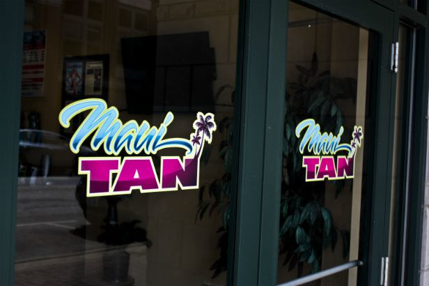 Maui Tan Arlington Heights.  A full color logo is attractive on any smooth surface.