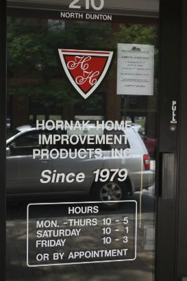 Hornak Home Improvement Arlington Heights.  Pair your logo with essential storefront information to get the most out of your advertising space for a low cost.