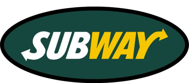 We can custom cut your sign for a unique design. This sign has an oval shape with the subway logo prominently diplayed within it.