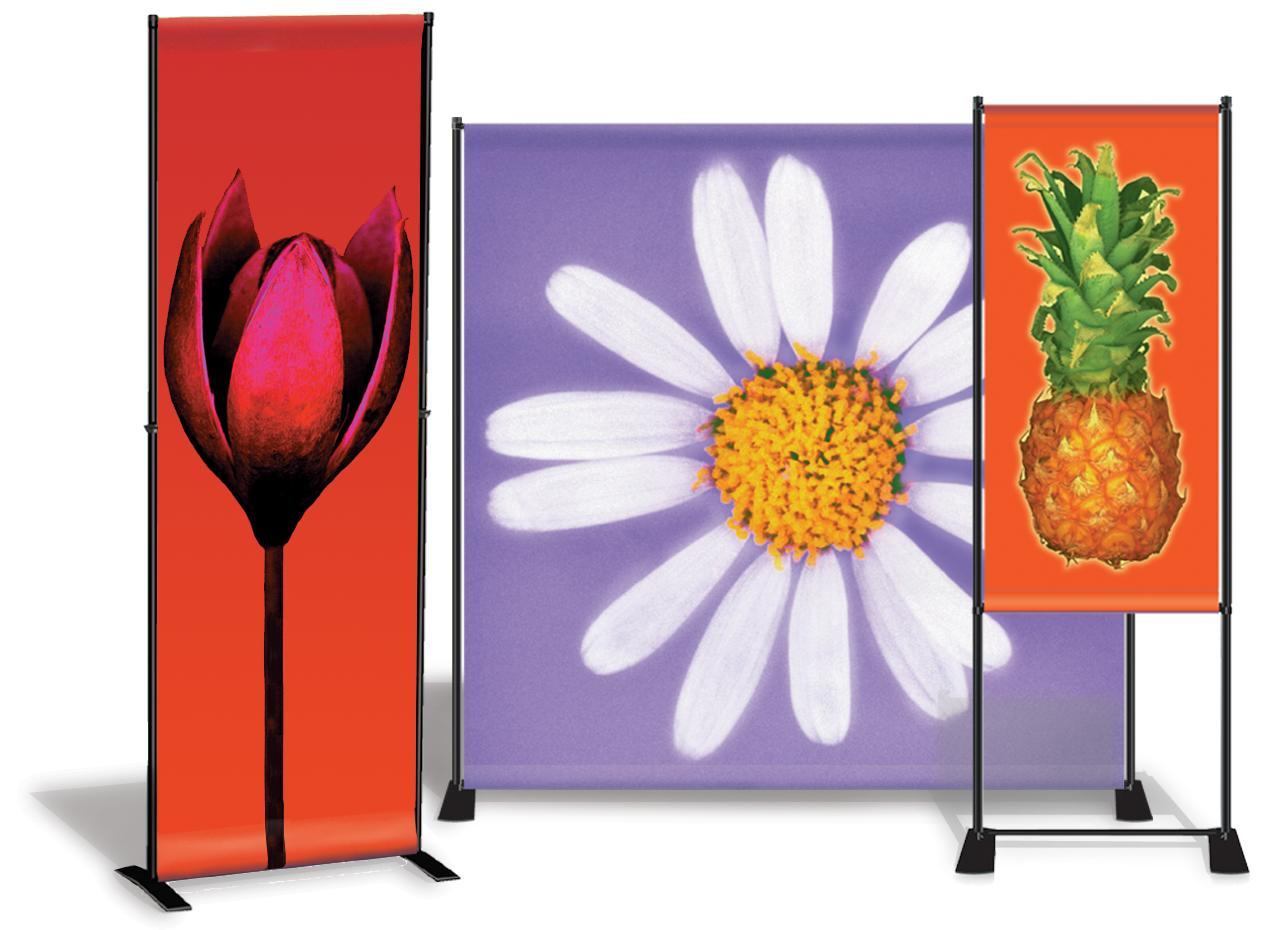 Banners and banner stands come in all shapes and sizes.