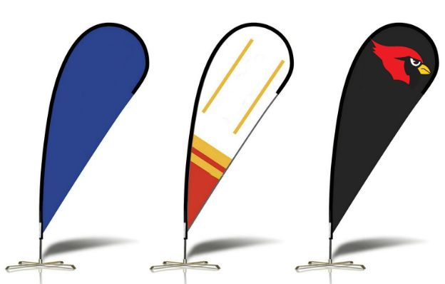 Outdoor and indoor sail flags.