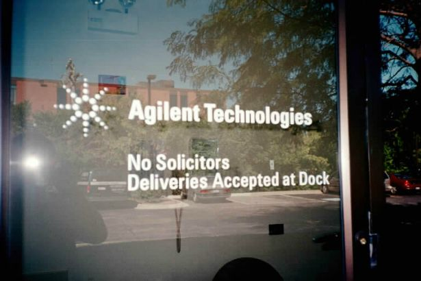 Agilant Technologies.  Informational lettering can be applied to any smooth surface.