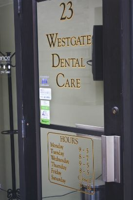 West Gate Dental Arlington Heights.  Outlining your letters can help make them stand out.