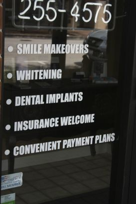 Arlington Comfort Dental Arlington Heights.  Advertise your services on your storefront in an easy to read quick list.